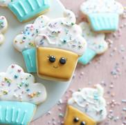 "Royal Icing Kekse ""Cupcakes"""
