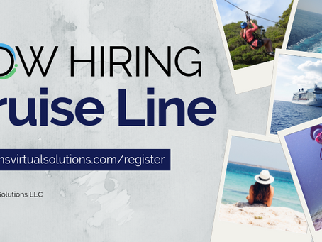 Cruise Line Client Now Hiring!