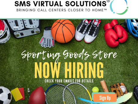 Sporting Goods Client Now Hiring!