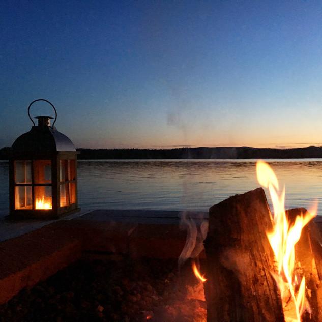 late summer evenings at the sauna raft.J