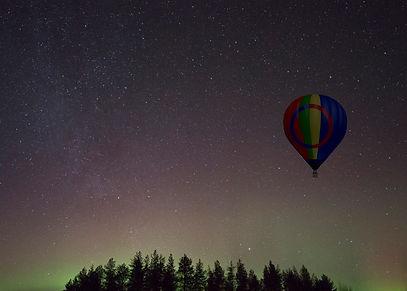 evening launch under possible aurora bor