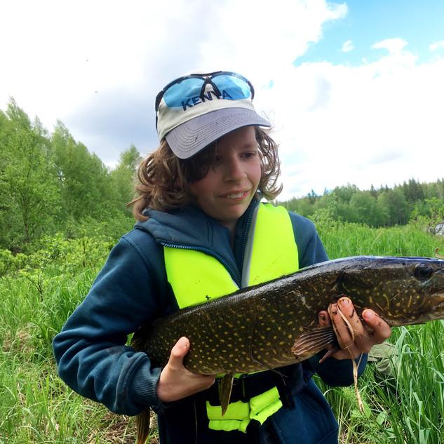 Fishing around the camp