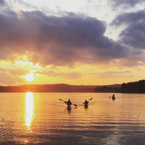 canoeing and kayaking in the sunset (lat