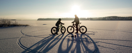 fatbiking in the wide open spaces around