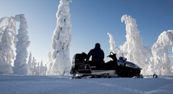 snowmobiling in the surroundings