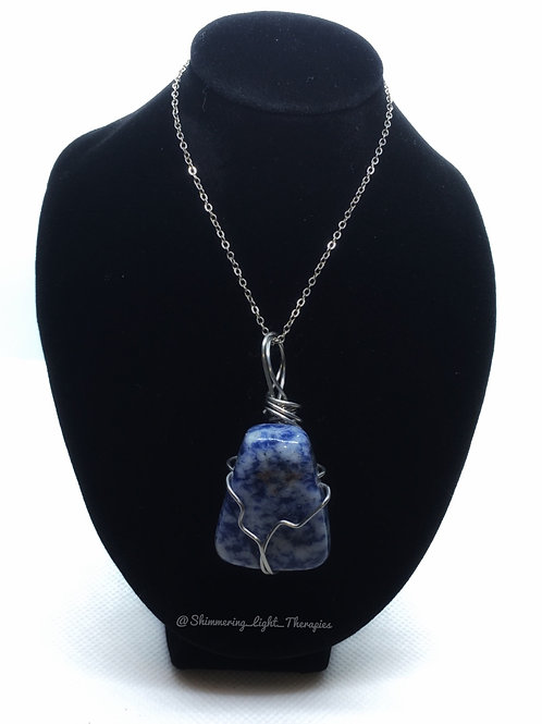 Wire Wrapped Sodalite Pendant