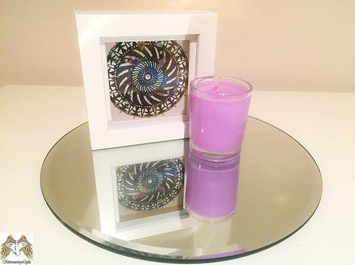 Gift Set: Crystal Mandala Grid + Chakra Candle