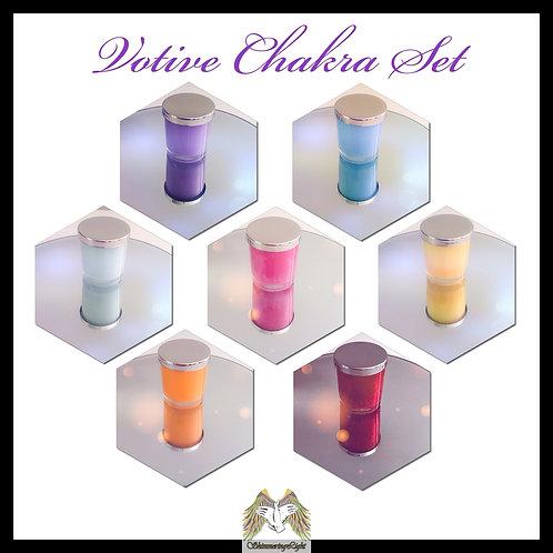 Votive Chakra Candle Set