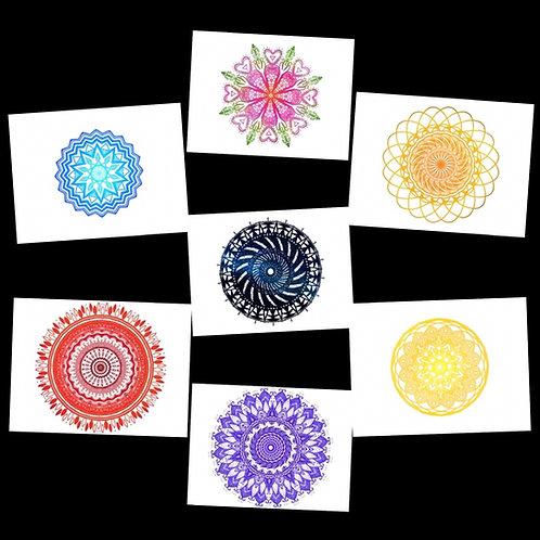 Framed Chakra Crystal Grid