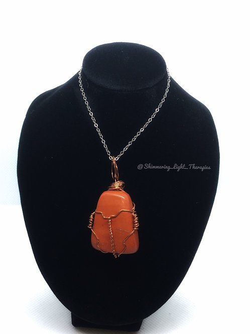 Red Jasper Copper Wire Wrapped
