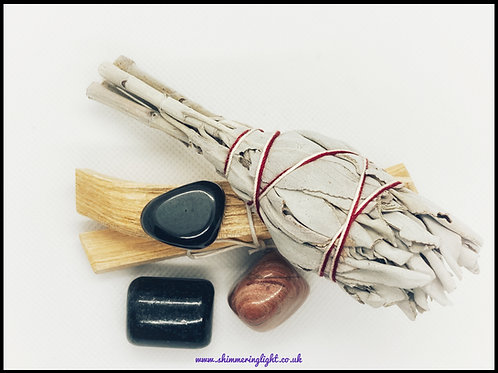 Smudge Kit + Ground & Protection Crystals