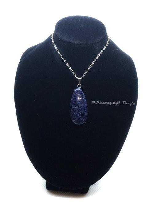 Oval Bluesand Stone Pendant