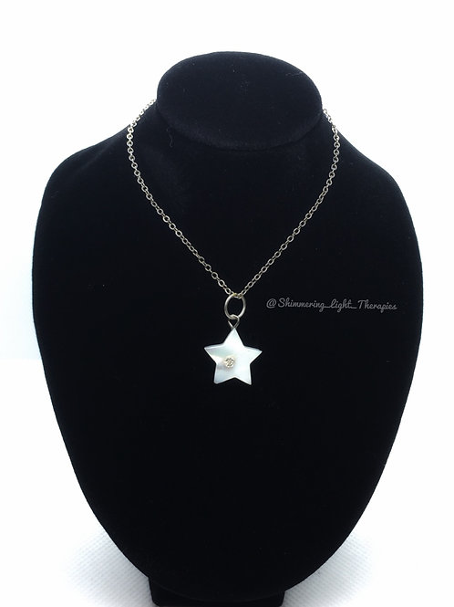 Mother of Pearl Star Shaped Pendant