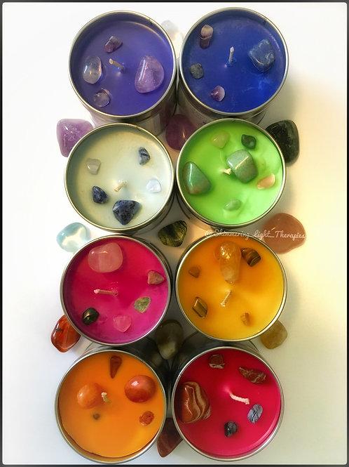 Crystal Chakra candles