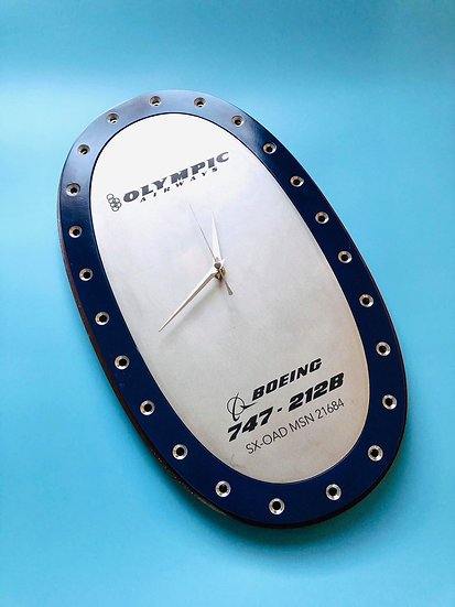 Olympic Airways B747 SX-OAD fuel panel clock