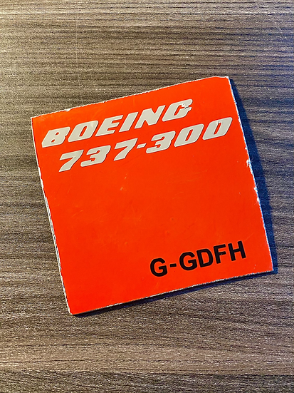 Boeing 737-300  G-GDFH skin square with decals