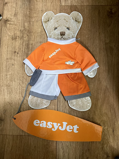easyJet gulliver bear surfer outfit  - no bear included