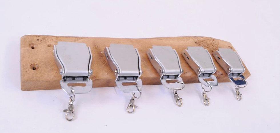 Set of 5 belt buckle rack