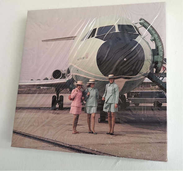 Courtline Cabin Crew with BAC 111 G-AXMG canvas