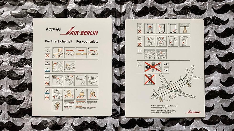Air Berlin 737-400 safety card