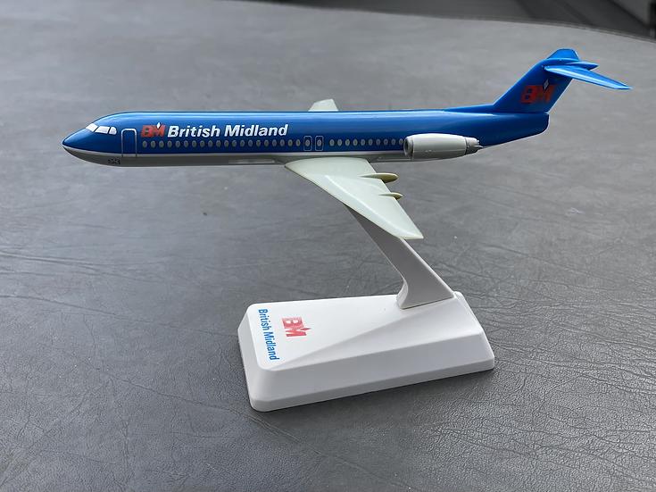 British Midland Fokker 100 aircraft model