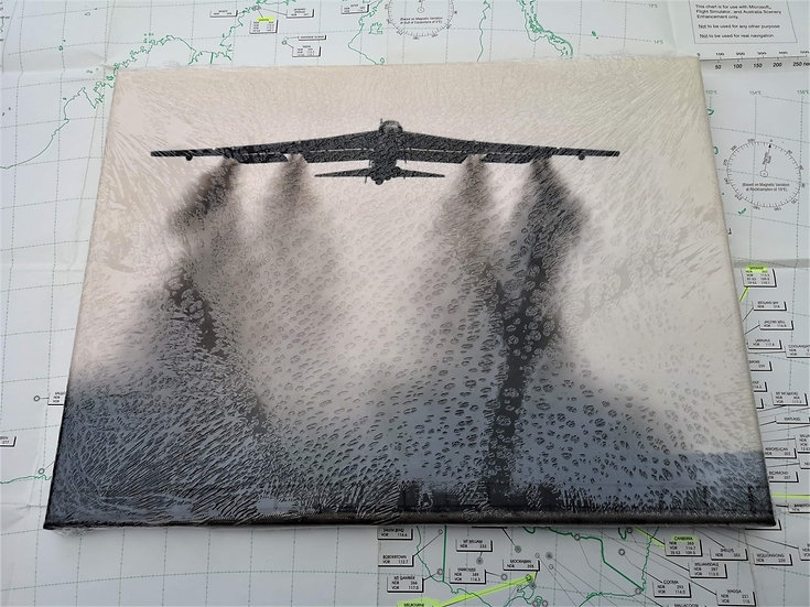 B52 bomber canvas 40x30cm