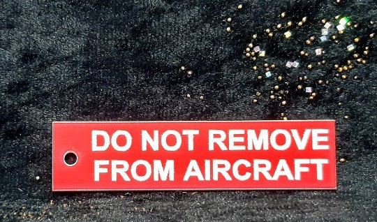 Do not remove from aircraft keyring