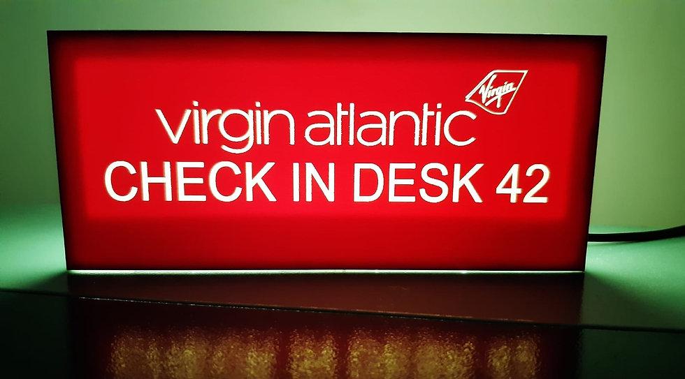 Customised Airline desk light box
