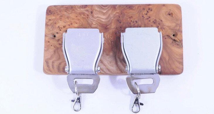 2 set belt buckle rack