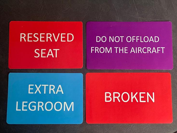 TUI cabin stickers