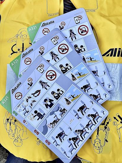 Alitalia Safety Card A321