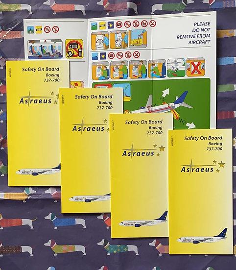 Astraeus Boeing 737-700 safety card