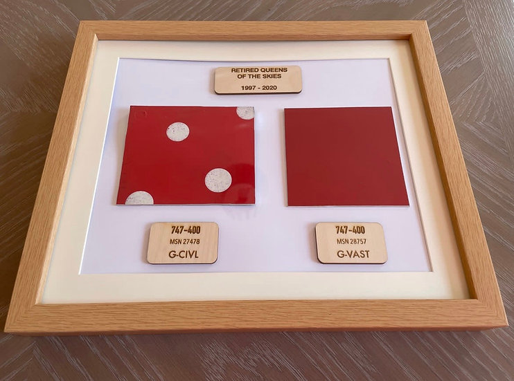 G-CIVL and G-VAST framed squares with plaques