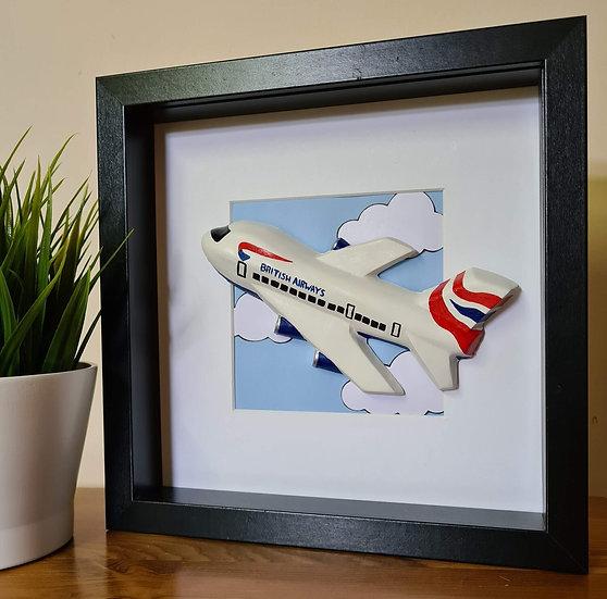 British Airways hand made plaster of Paris frame