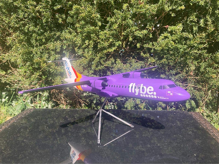 Flybe fibre glass 1:50 scale 55cm model with stand