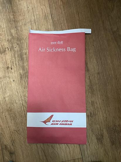 Air India air sickness bag