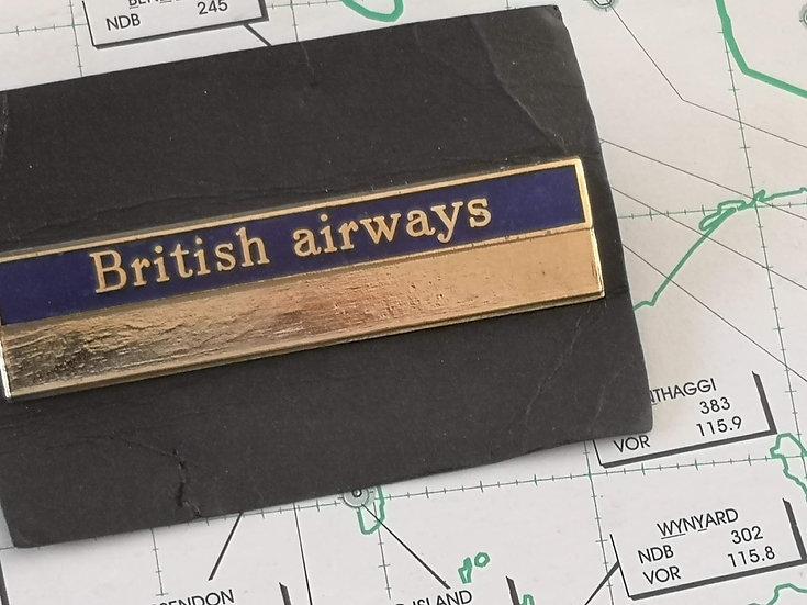 Retro British Airways unused name badge