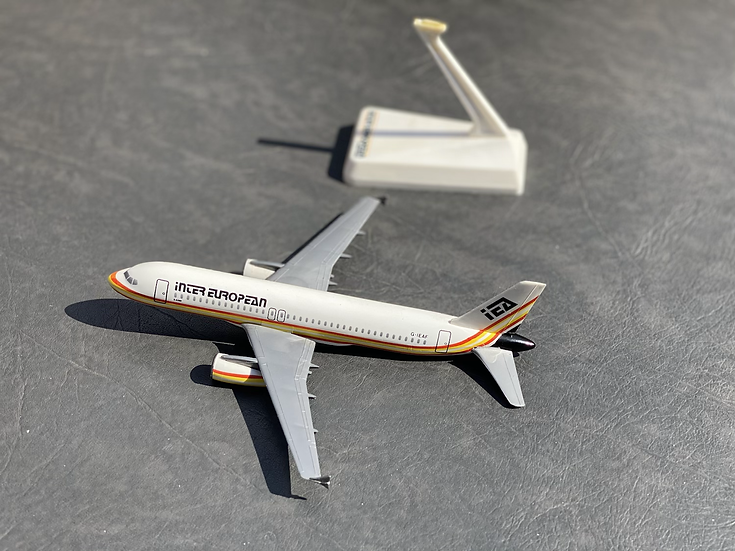 Inter European A320 aircraft model