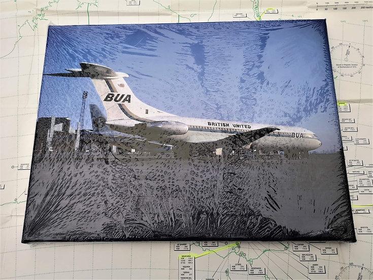BUA VC10 Luton Diversion canvas 40x30cm