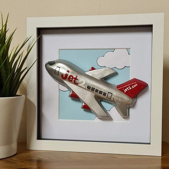 Jet2 hand made plaster of Paris retro livery frame