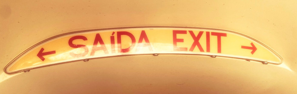 Embraer exit signs