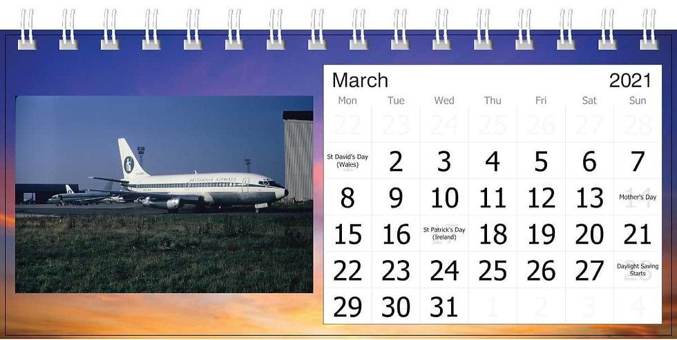 Britannia desk calendar