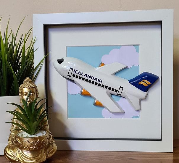 Icelandair livery hand made plaster of Paris frame