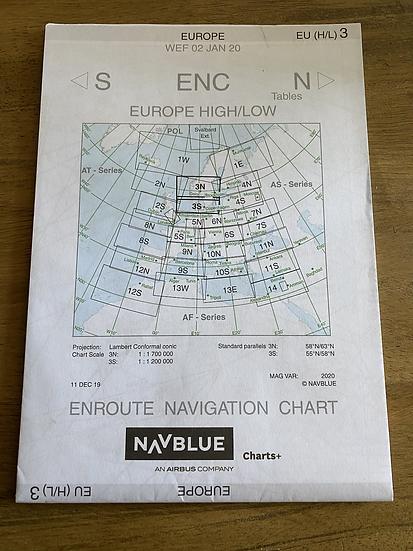 NavBlue Enroute Navigation Chart fold out