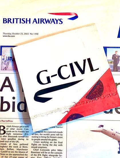 BA Boeing 747-436 G-CIVL skin square with registration decals