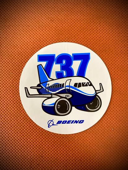 Boeing 737 'Pudgey' sticker