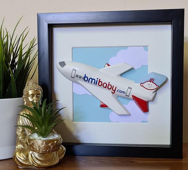 BMI Baby livery hand made plaster of Paris frame