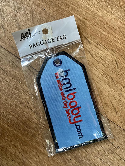 BmiBaby luggage tag in fabric finish