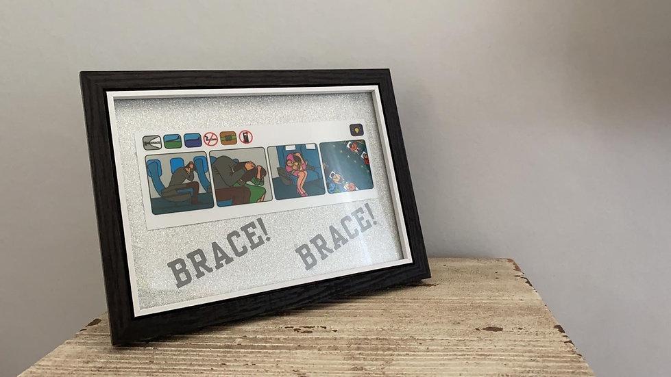 Brace! Brace! Safety Card framed picture