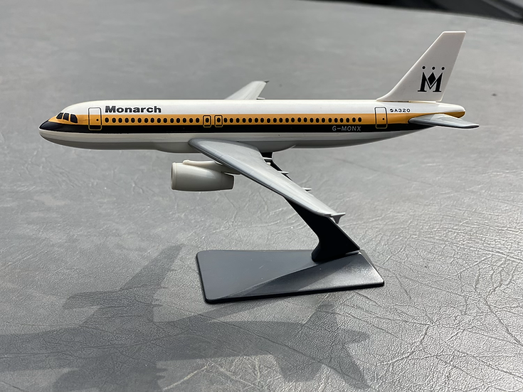 Monarch old livery A320 good condition model